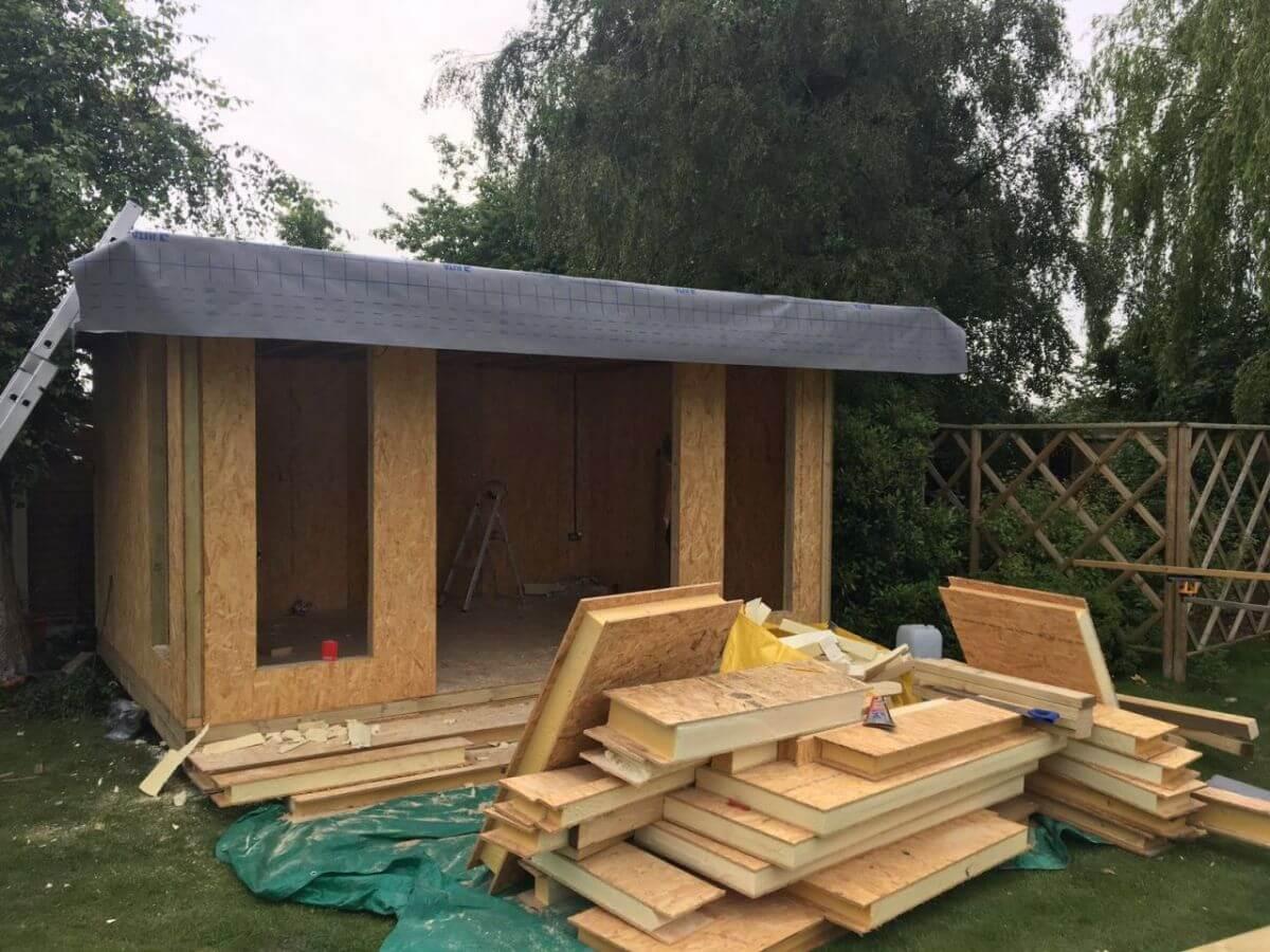 Garden Room Installation June 2016 Bridge Timber Garden