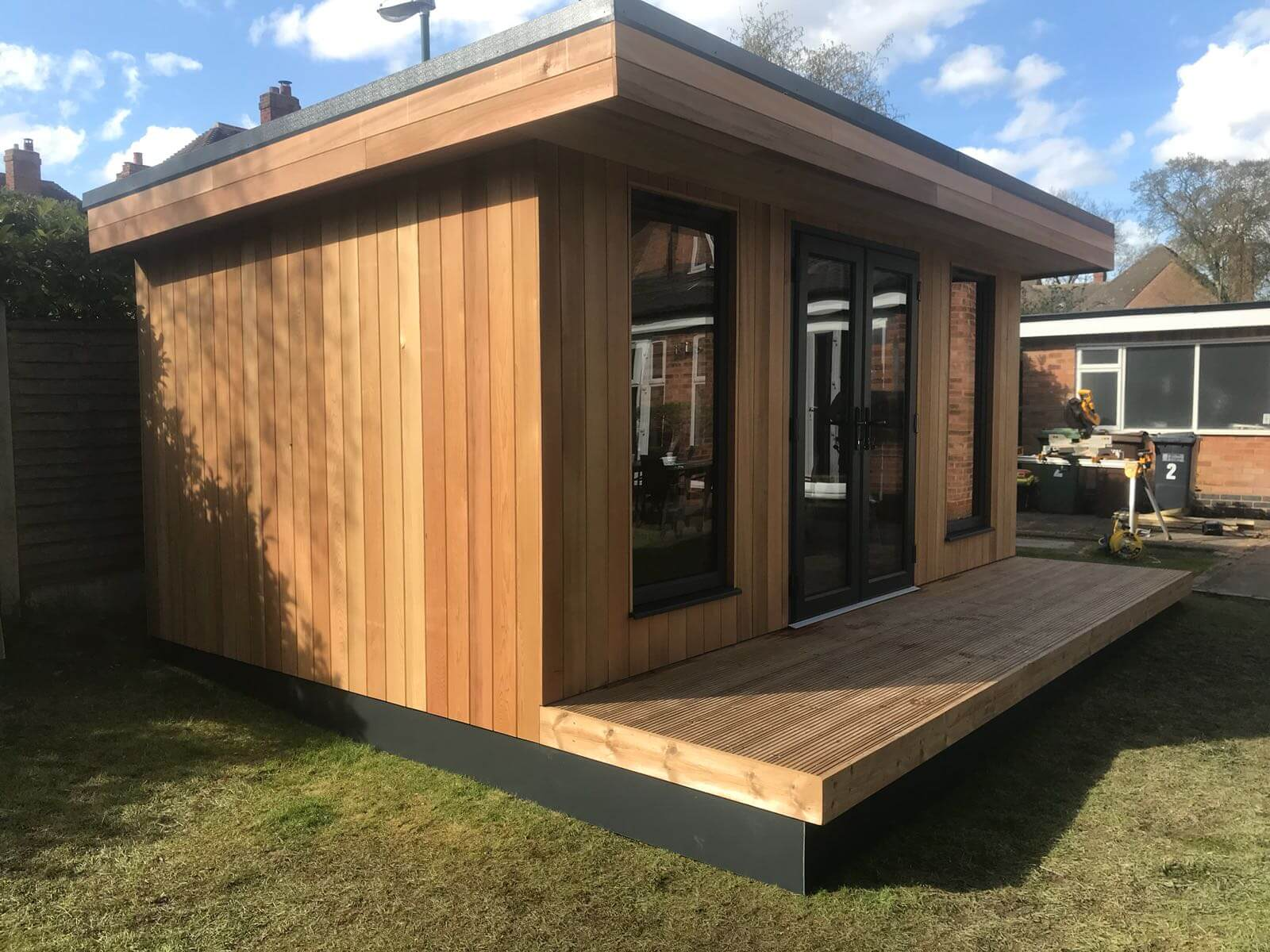 Garden Room Installation Morag April 2018 Bridge Timber
